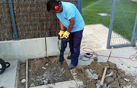 construcción, albañilería y pintura