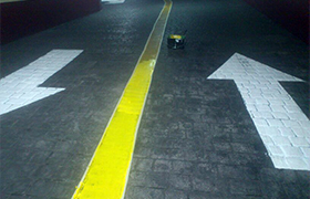 pintado señales de tráfico